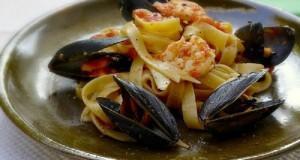 seafood tagliatelle pasta