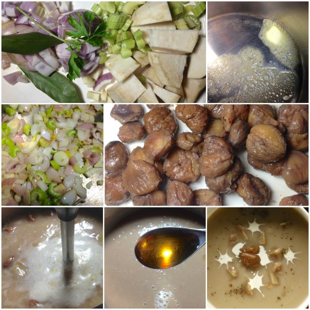 Ετοιμάζοντας καστανόσουπα
