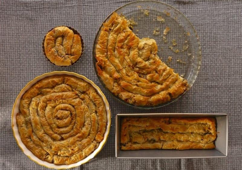 στριφτόπιτα τραγανή - στριφτή πίτα