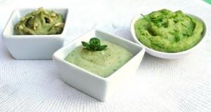 3 πράσινα ντιπ με φασόλια