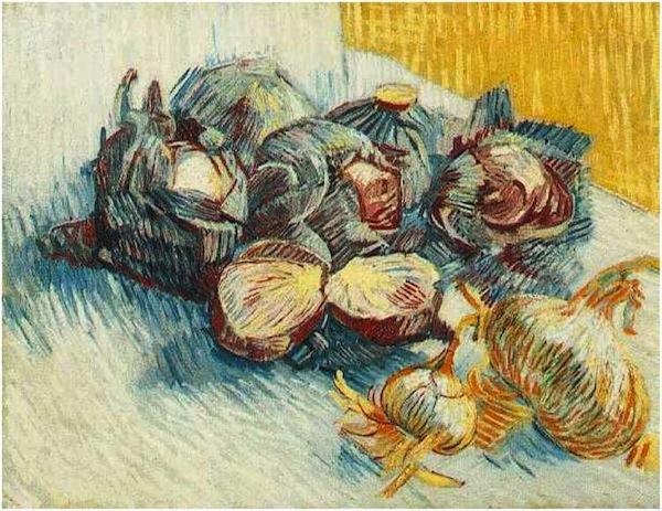 ριζότο με κόκκινο λάχανο - Vincent van Gogh 'Still Life with Red Cabbages and Onions'