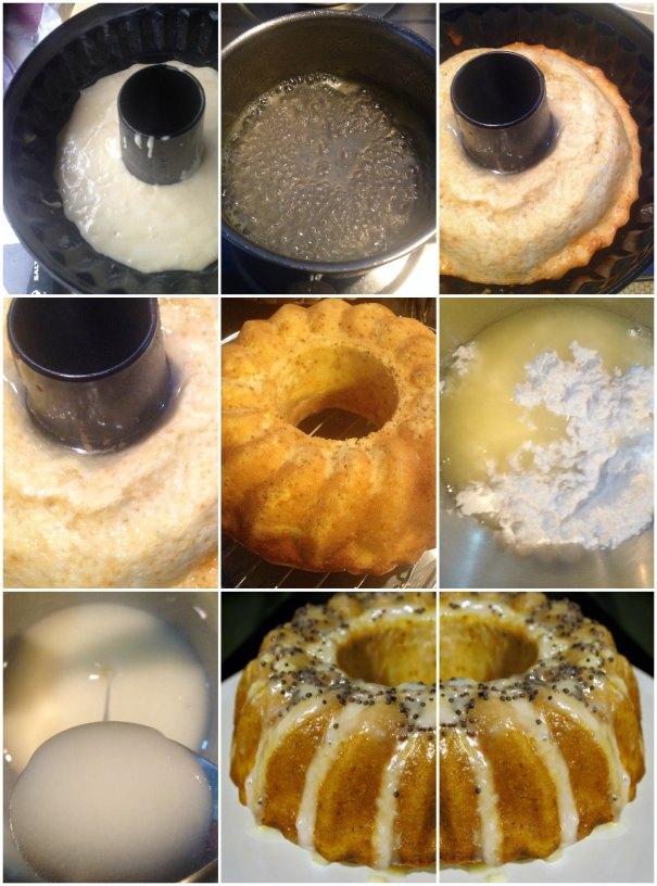 κέικ λεμόνι, γλάσο λεμονιού
