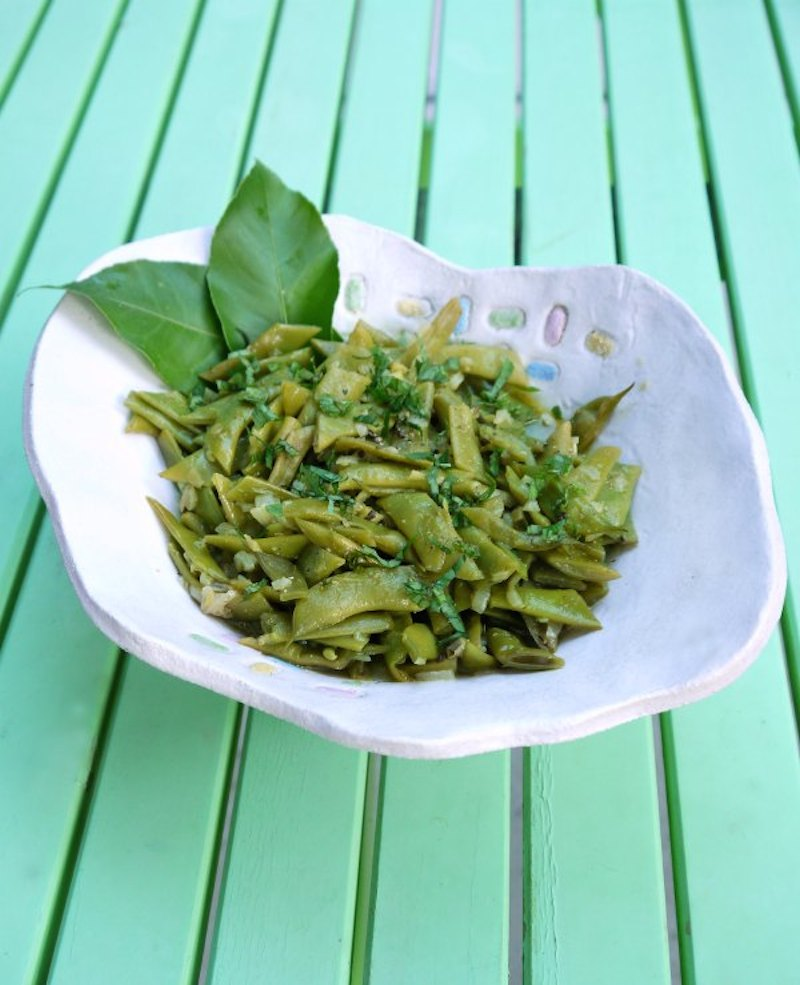 fresh green beans with cumin and ginger