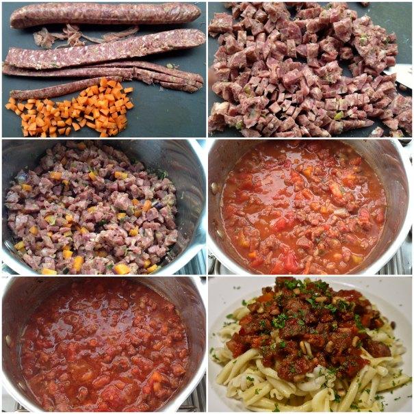 ραγού με λουκάνικο: παρασκευή σάλτσας