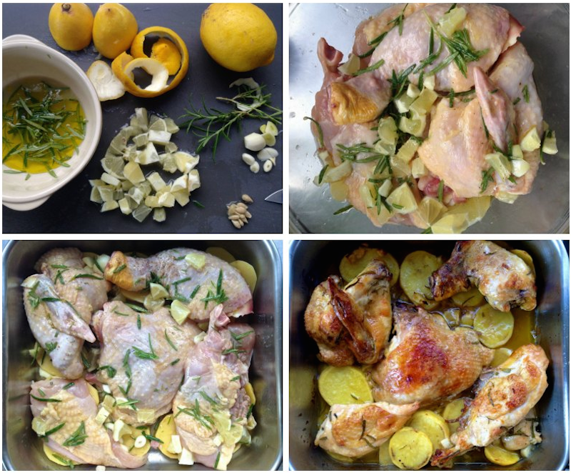 easy roast chicken with lemon and rosemary
