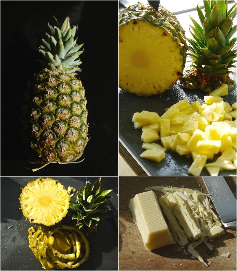τιραμισού με ανανά - ανανάς & άσπρη σοκολάτα