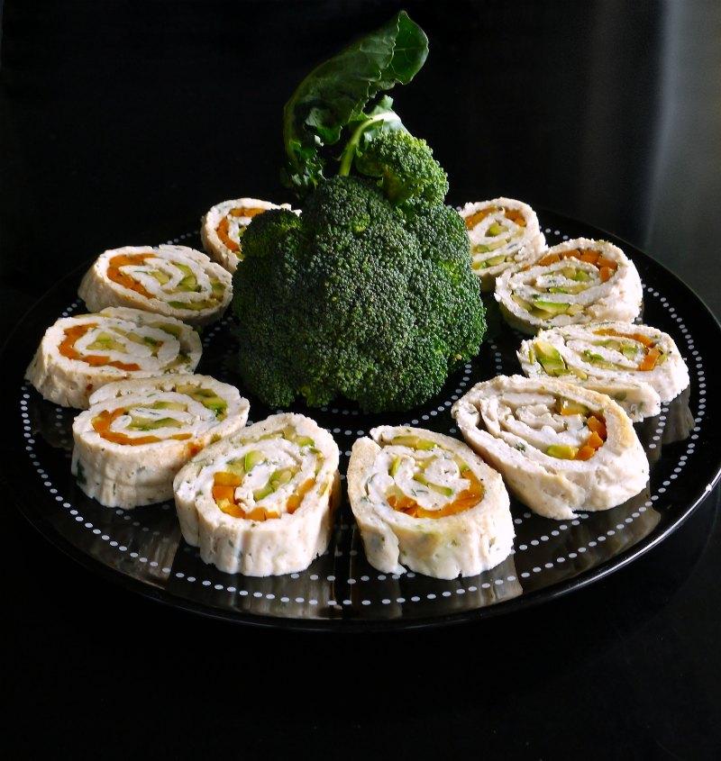 ρολό κοτόπουλου με λαχανικά