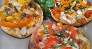 πίτσες με αραβική πίτα