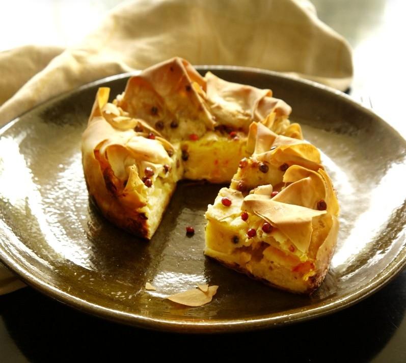 τυρόπιτα με κίτρινα τυριά
