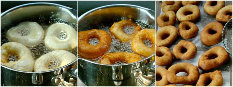 ντόνατς σπιτικά... τηγάνισμα