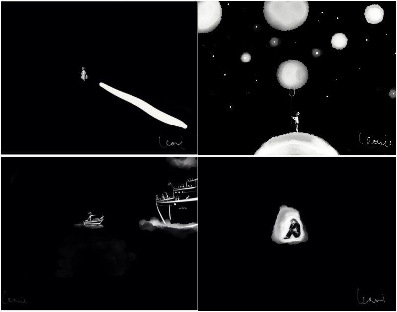Leonie, memorability: 'Dark', 'Falling planet','Catching the boat' 'Esoteric'