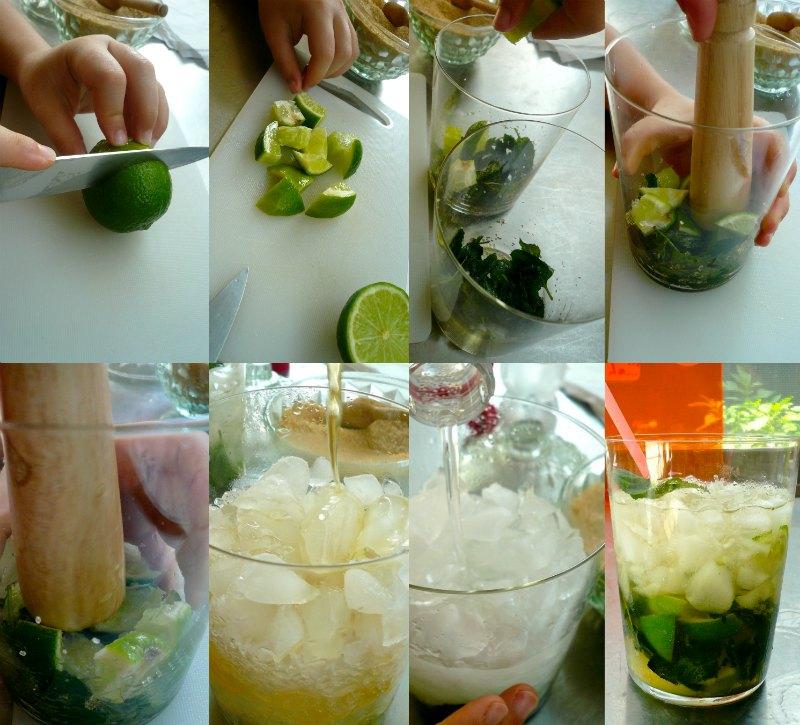 ετοιμάζοντας mojito step by step
