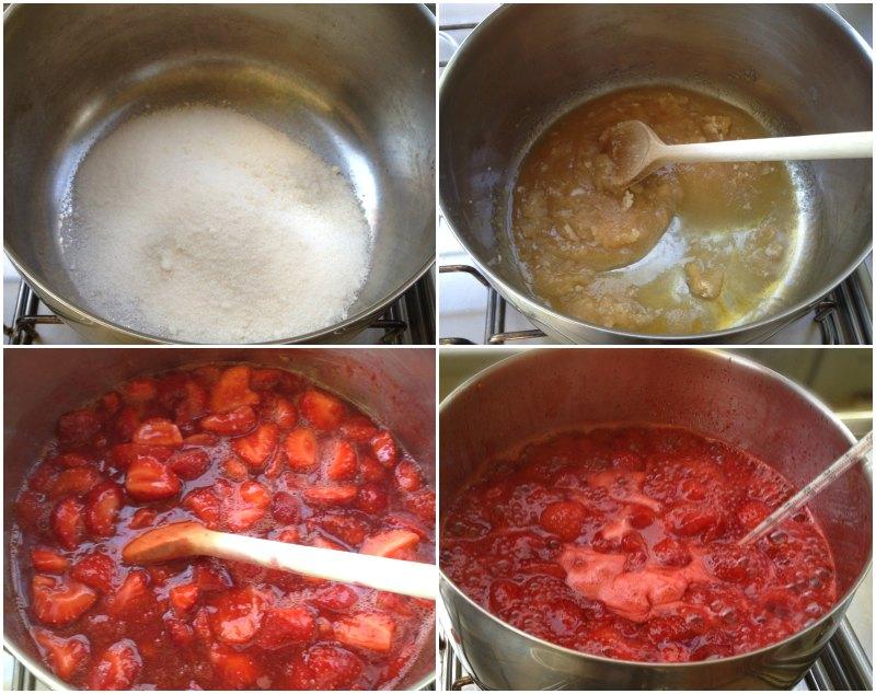 κάνοντας μαρμελάδα φράουλα