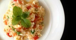 Risotto with tomato and feta