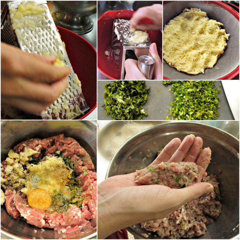 cypriot meatballs -shaping