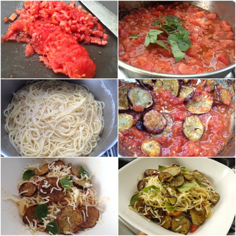 pasta alla norma - αυθεντικά σιτσιλιάνικα σπαγγέτι αλά νόρμα με ντομάτες και μελιτζάνες