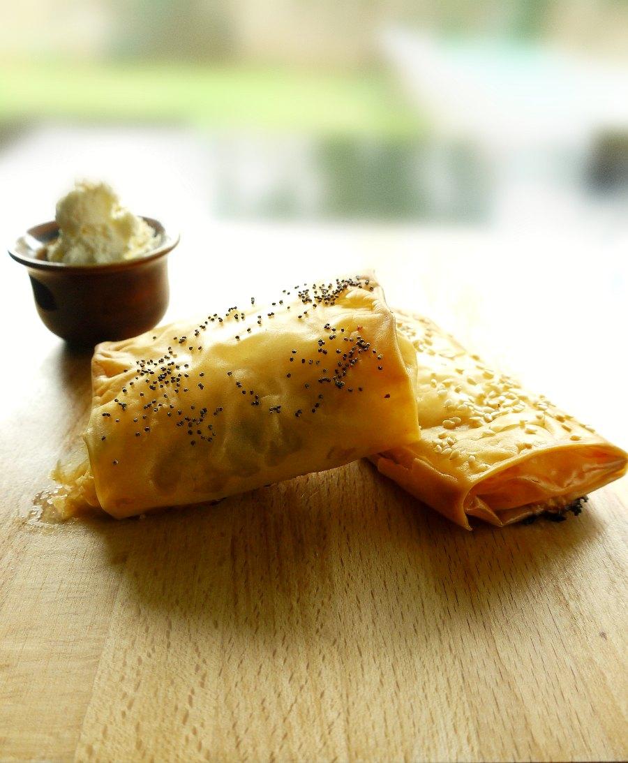 παστουρμαδόπιτα ατομική - πίτα Καισαρείας