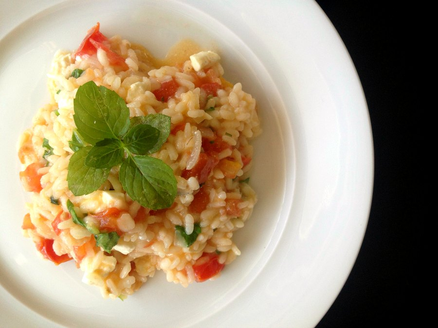 Risotto with tomato and feta