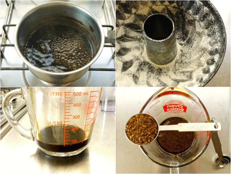 preparing the homemade espresso coffee essance