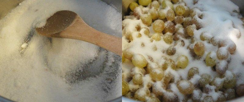 μαρμελάδα σταφύλι: η ζάχαρη