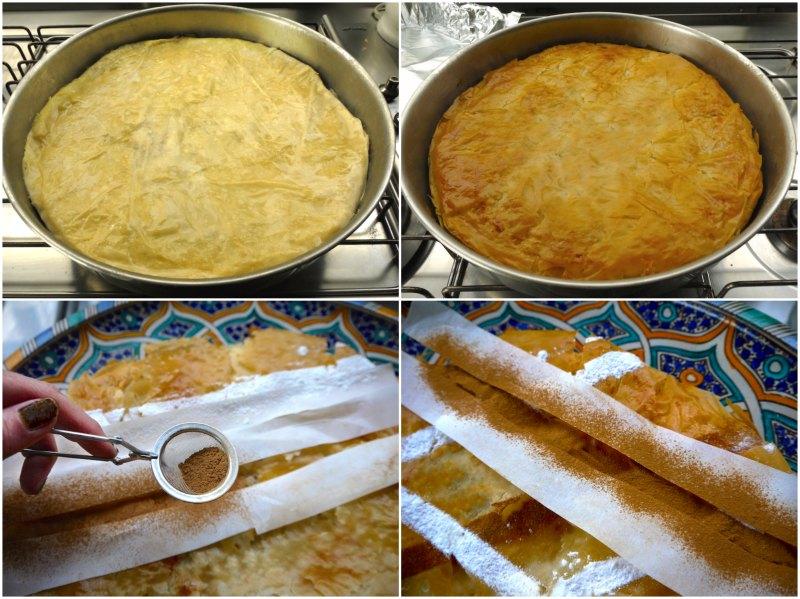 παστίγια αυθεντική μαροκινή πίτα: ψήσιμμο και ντεκόρ