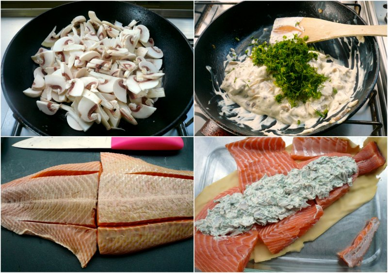 how to stuff salmon in puff pastry -wellington