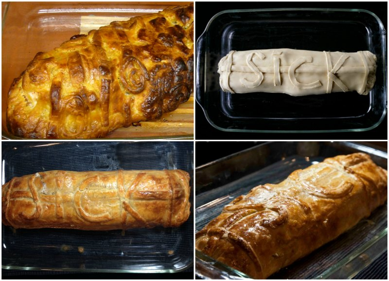 salmon in puff pastry - baking