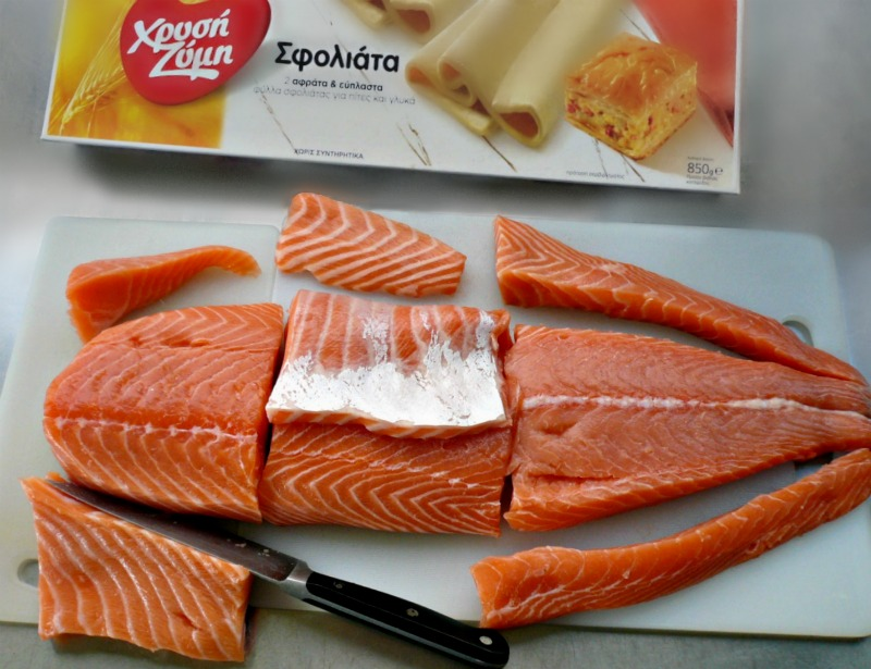 recipe for salmon in puff pastry