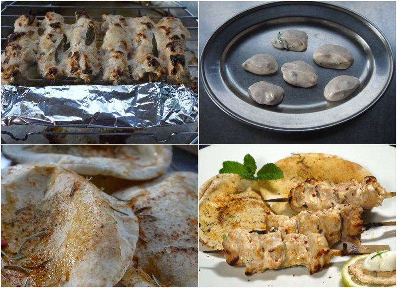 πικάντικες αραβικές πίτες για σουβλάκια κοτόπουλου