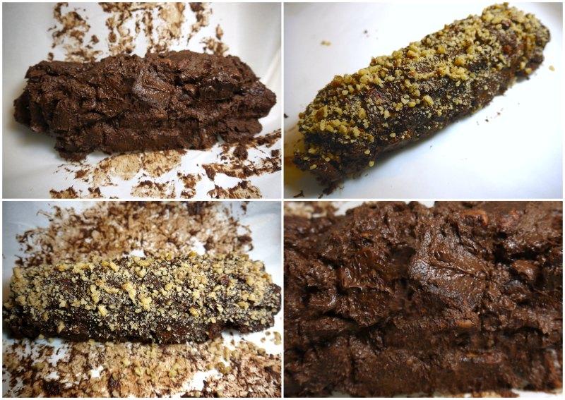 κορμός σοκολάτας: μωσαϊκό - σαλάμι