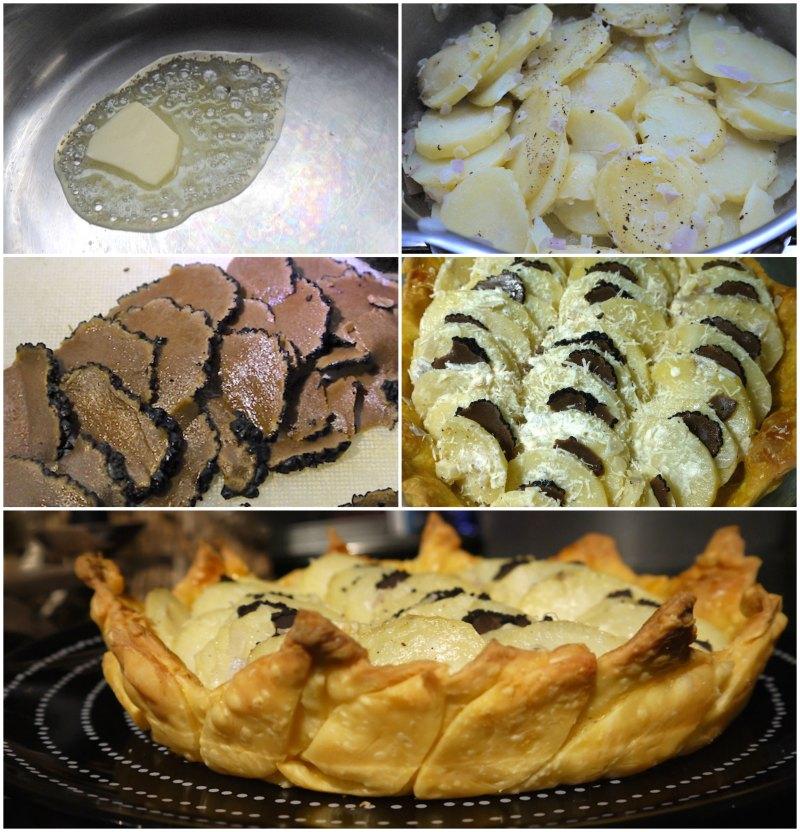 πατάτες με μαύρη τρούφα στο φούρνο
