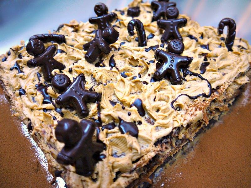 τούρτα μόκα: σοκολάτα και καφές