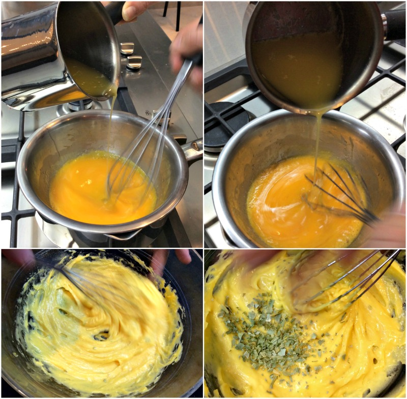 making the Béarnaise sauce