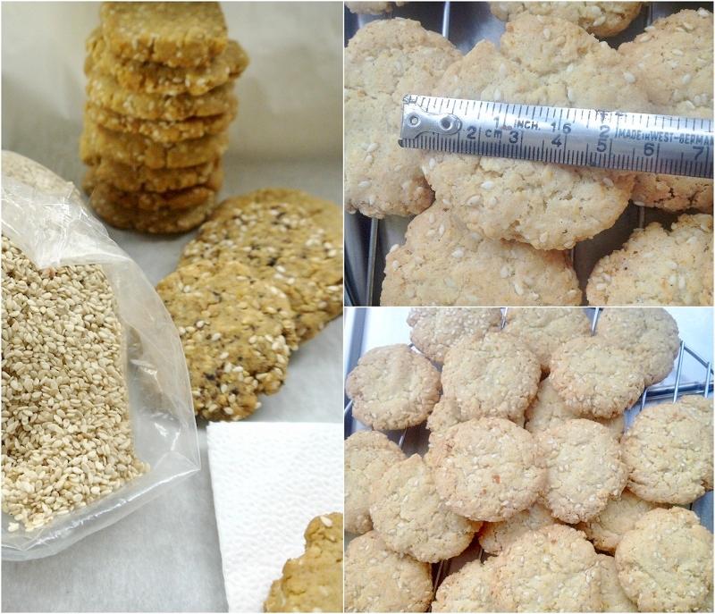 μπισκότα με σουσάμι