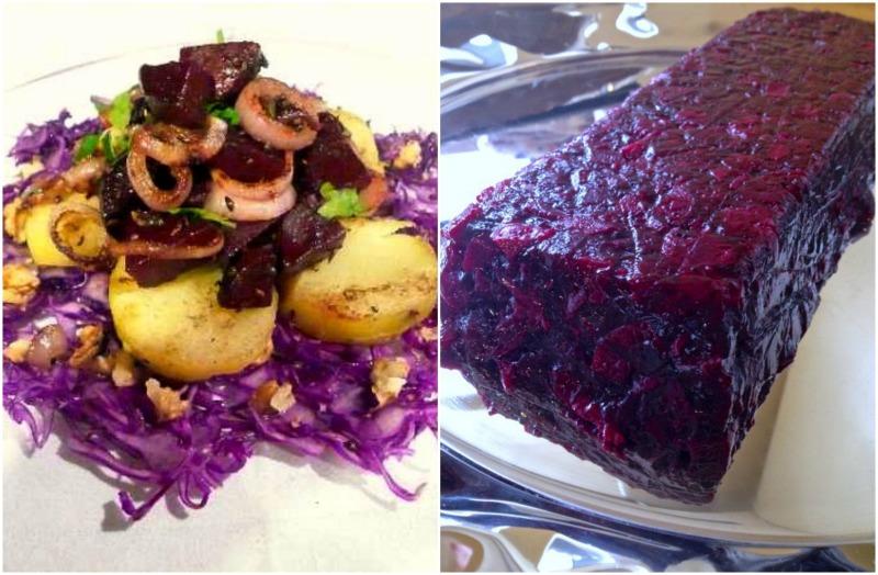 μενού 25ης Μαρτίου -παντζαρια σαλάτα και τερίν