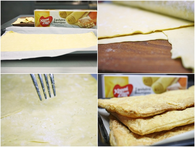 making the puff pastry for crispy mille-feuille