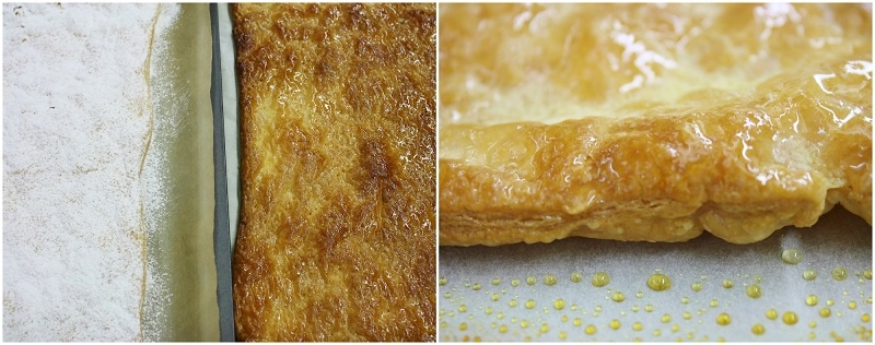 mille-feuille - crispy caramelised puff pastry