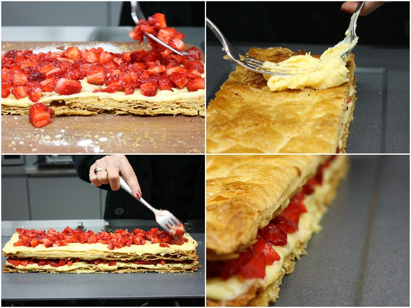 crispy strawberry mille-feuille