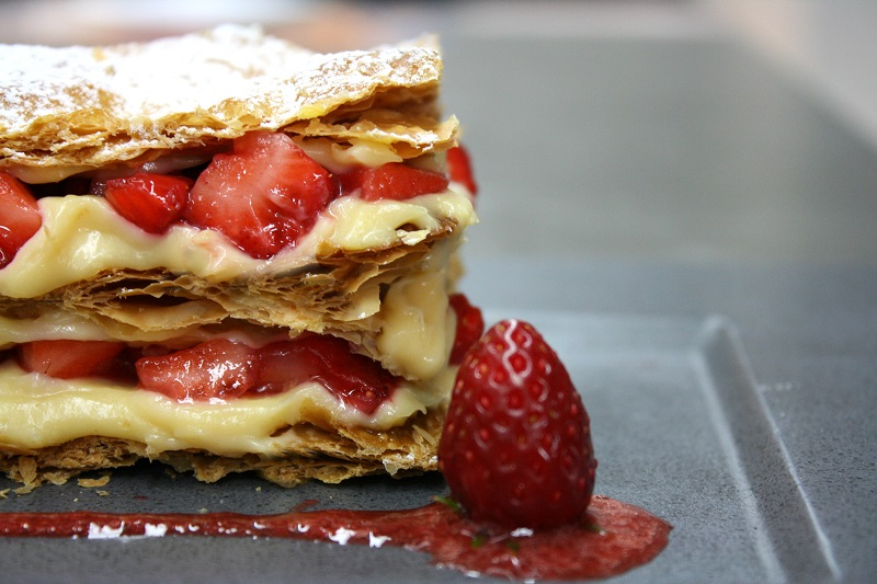 perfect homemade strawberry mille-feuille