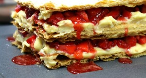 home-made strawberry mille-feuille