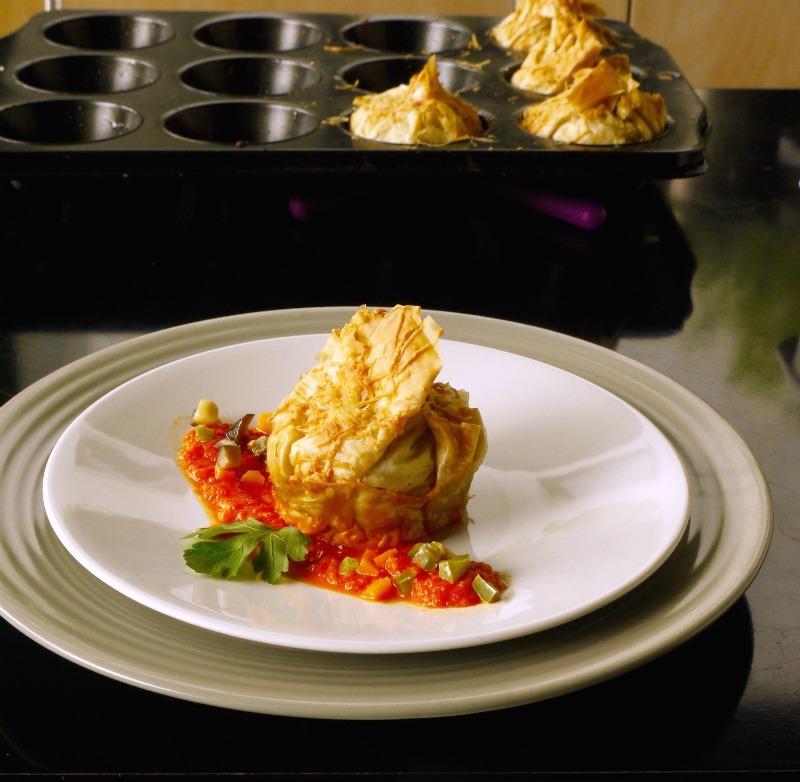 εύκολα και γρήγορα τραγανά πουγκιά γεμιστά με λαχανικά