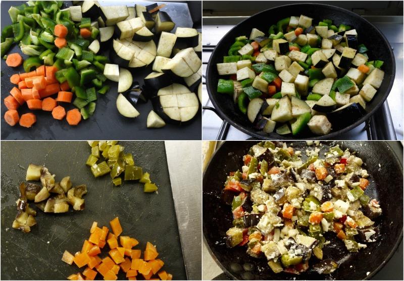 πουγικά λαχανικών - λαχανικά, σοτάρισμα