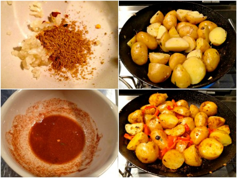 spicy potatoes with red peppers recipe