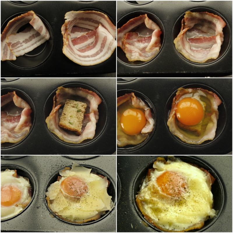 αυγά με μπέικον σε φόρμα