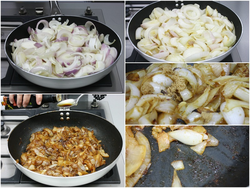 πως κάνουμε καραμελωμένα κρεμμύδια στο τηγάνι