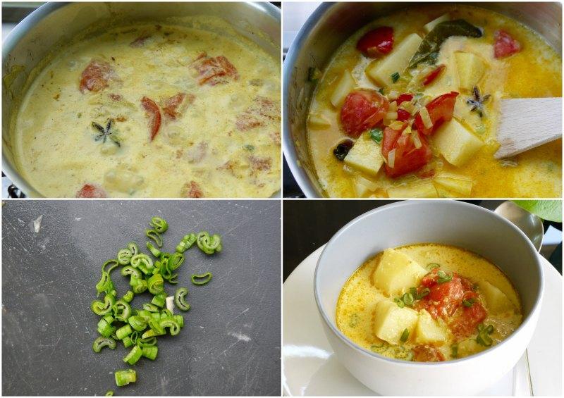 αρωματικό κάρυ με πατάτες και ντομάτα - παρασκευή 2