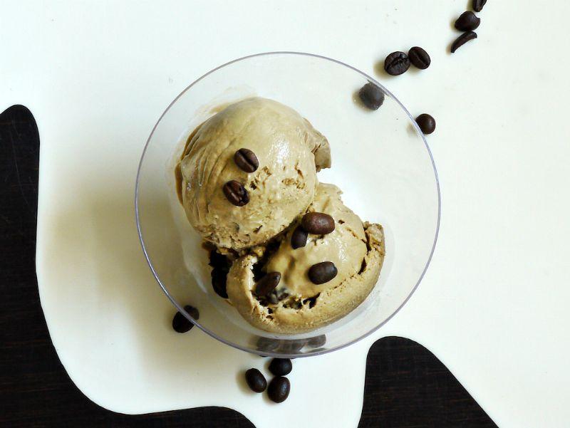παγωτό καφέ και παγωτό μόκα, με αυγά ή χωρίς - παγωτό καφέ