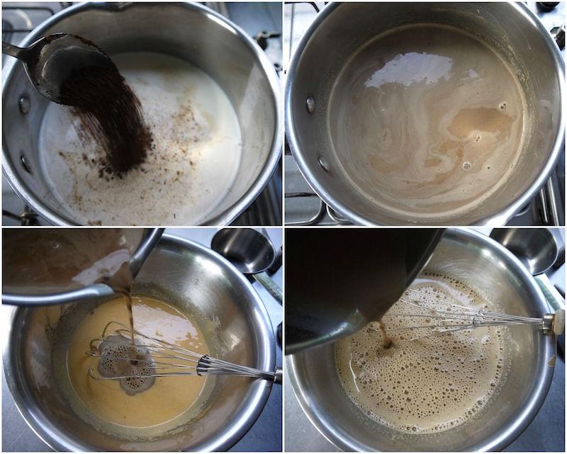 παγωτό καφέ και παγωτό μόκα, με αυγά