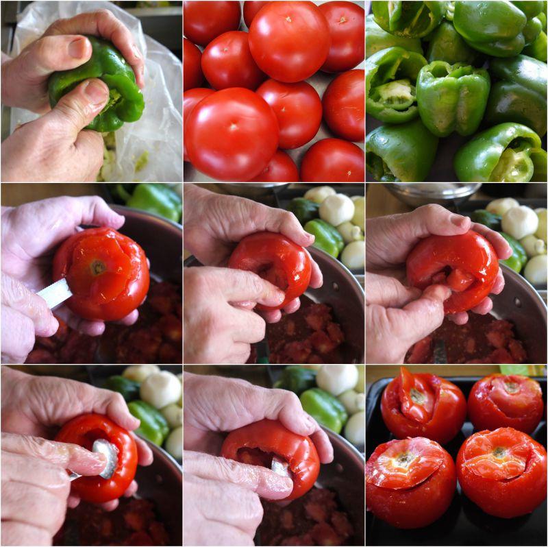 αυθεντικά γεμιστά πολίτικα- πως καθαρίζουμε τις ντομάτες