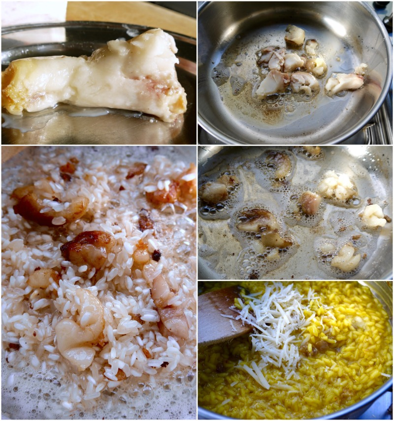 χρυσό ριζότο αλά μιλανέζε με σαφράν και μεδούλι